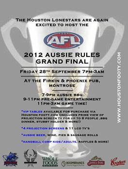 2012 Houston Lonestars AFL Grandfinal Party