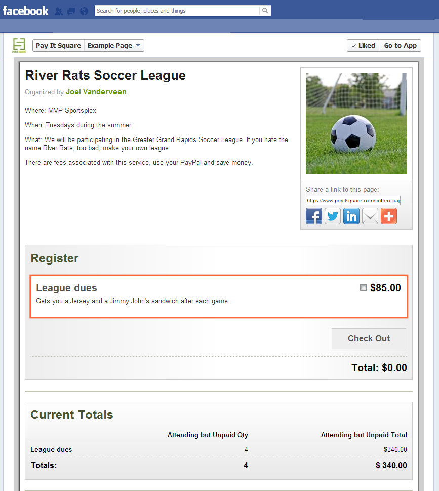 Soccer League Example